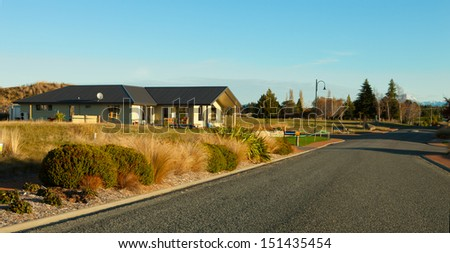 Te Anau. One of the typical houses in New Zealand ( South Island). - stock photo