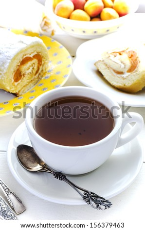 Tea and apricot roll
