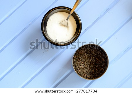 Tea and sugar - stock photo