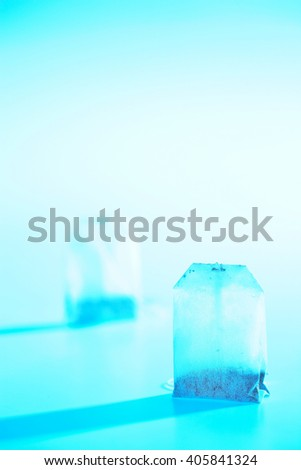 tea bag in background - stock photo