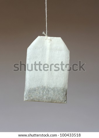 tea bag invitation - stock photo