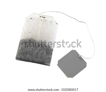 Tea bag isolated on a white background, clipping path