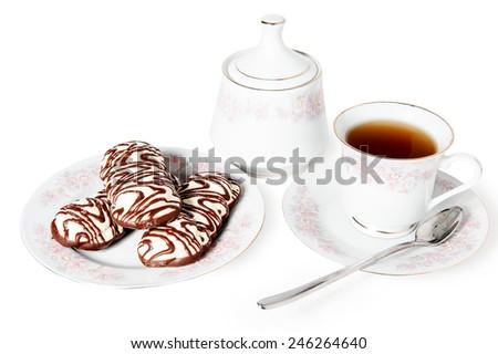 tea cake sweet isolated bakery - stock photo