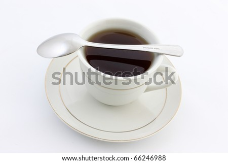 Tea Cup with Saucer and Spoon
