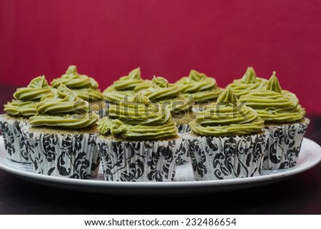 Tea Cupcakes - stock photo
