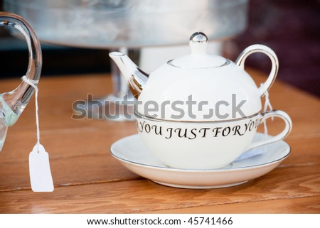 tea just for you in a pot in the shop