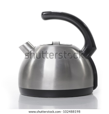 Tea kettle isolated on white background - stock photo