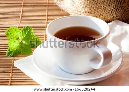 Tea & Mint - stock photo