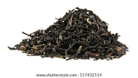 tea on a white background. picture from series. - stock photo