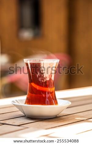 tea on table - stock photo