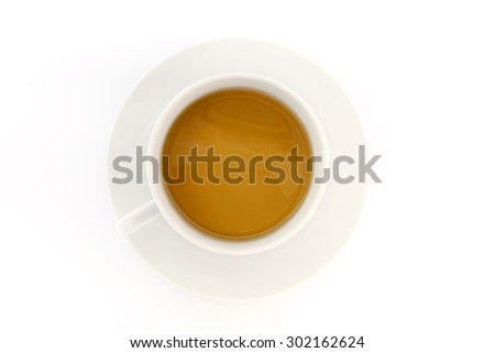 Tea on white background - stock photo