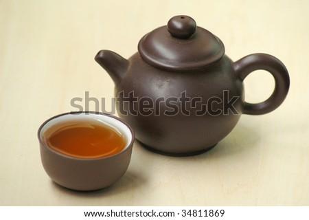 tea pot - stock photo
