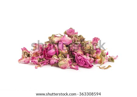 Tea rose flowers on a white background
