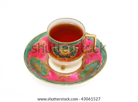 Tea Served in Demitasse Cup and Saucer