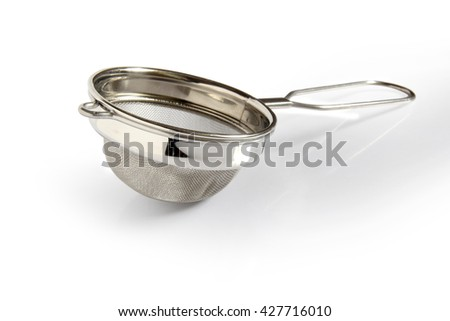 Tea sieve isolated on white background