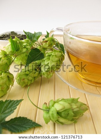 Tea with hops