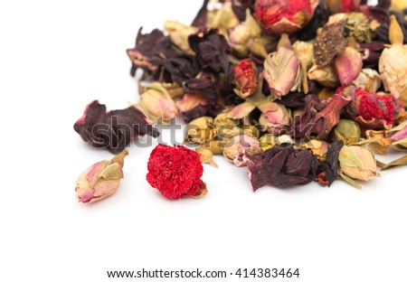 tea with white background