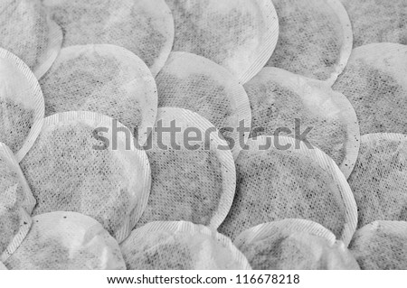 Teabag Scales Background - stock photo