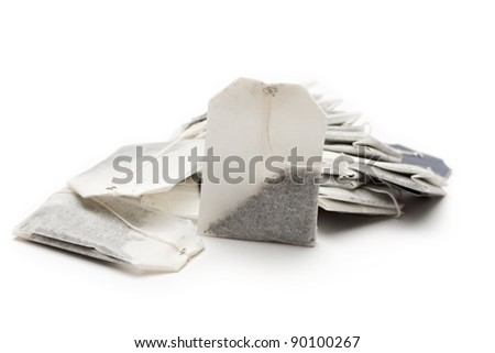 Teabags on a white background - stock photo