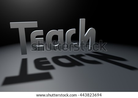 Teach and learn optical illusion, 3D rendering - stock photo