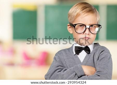 Teacher, child, kid. - stock photo