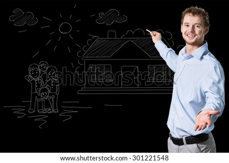 Teacher, english, class. - stock photo