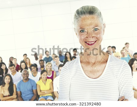 Teacher Student Lecture Room Casual Instructor Concept - stock photo