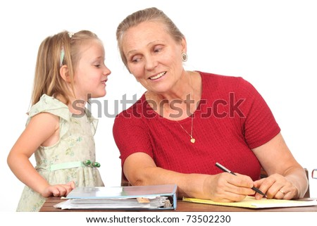 Teacher with a student - stock photo