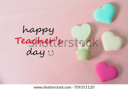 Teachers day concept greeting words handwriting stock photo royalty teachers day concept greeting words handwriting happy teachers day with hearts symbols of love on m4hsunfo