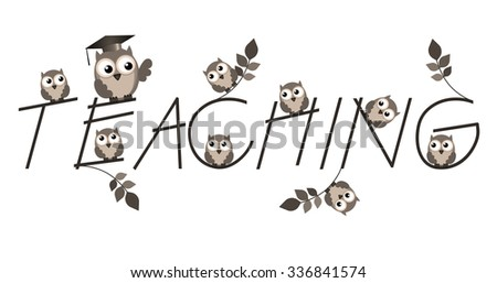 Teaching twig text isolated on white background - stock photo