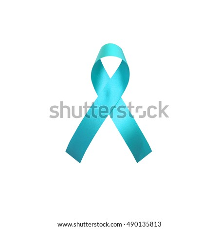 Teal Awareness Ribbon Anti Bullying Awareness Scleroderma Stock