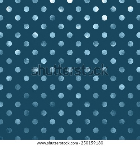 Teal Blue Slate Metallic Foil Polka Dot Pattern Swiss Dots Texture Paper Color Background - stock photo