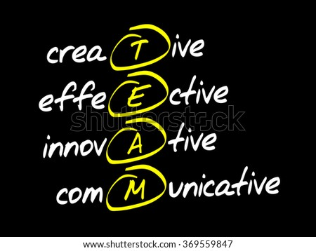 TEAM acronym, business concept background