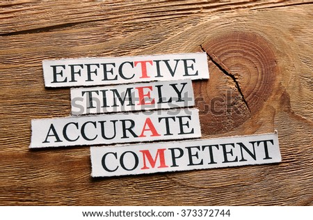 team acronym in business concept, words on cut paper on wood - stock photo