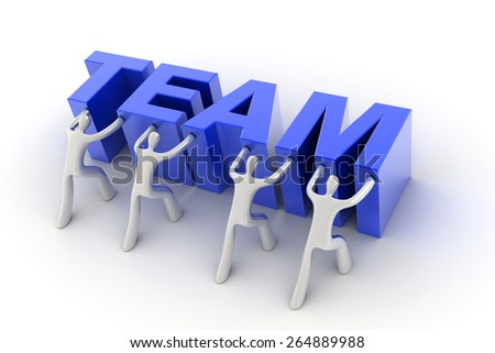 Team and business concepts, 3d background.