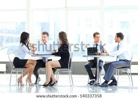 Team at work - stock photo