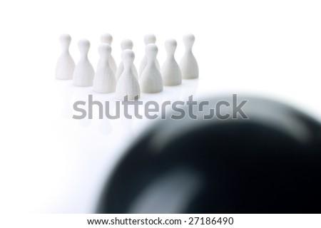 team bowling - stock photo