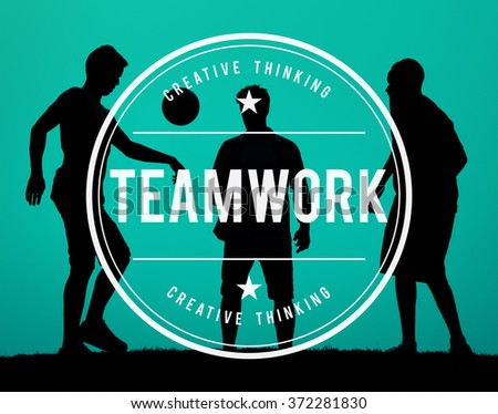 Team Building Collaboration Connection Corporate Teamwork Concept - stock photo