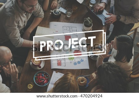 Team Business Startup Project Text Concept