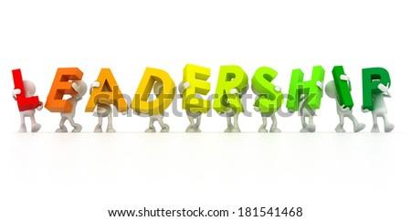 Team forming Leadership word - stock photo