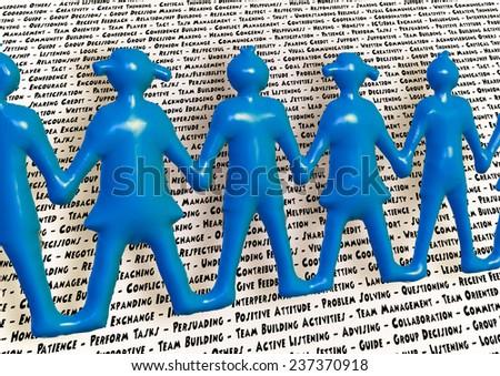 Team holding hands keywords teamwork better together - stock photo