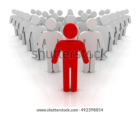 Team Leader 3d Illustration Stock Illustration 492859048 ...