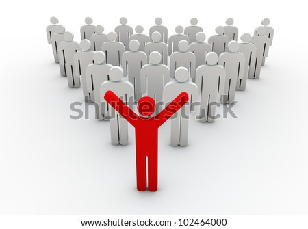 Team leader, team leader of the company other than a white background color was a visual work - stock photo