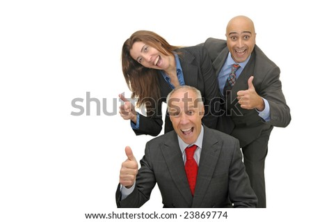 Team of businessman isolated in white