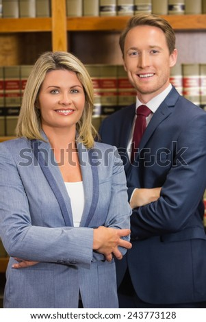 Team of lawyers in the law library at the university - stock photo