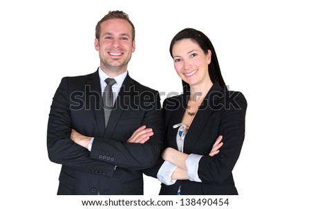 Team of two business professionals
