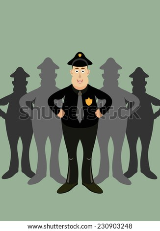 team officers - stock photo