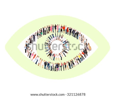Team over White Corporate Teamwork  - stock photo