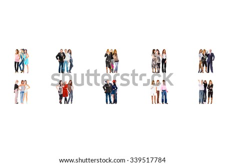 Team over White Office Culture  - stock photo