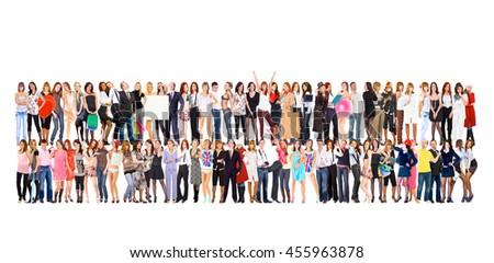 Team over White United Company  - stock photo